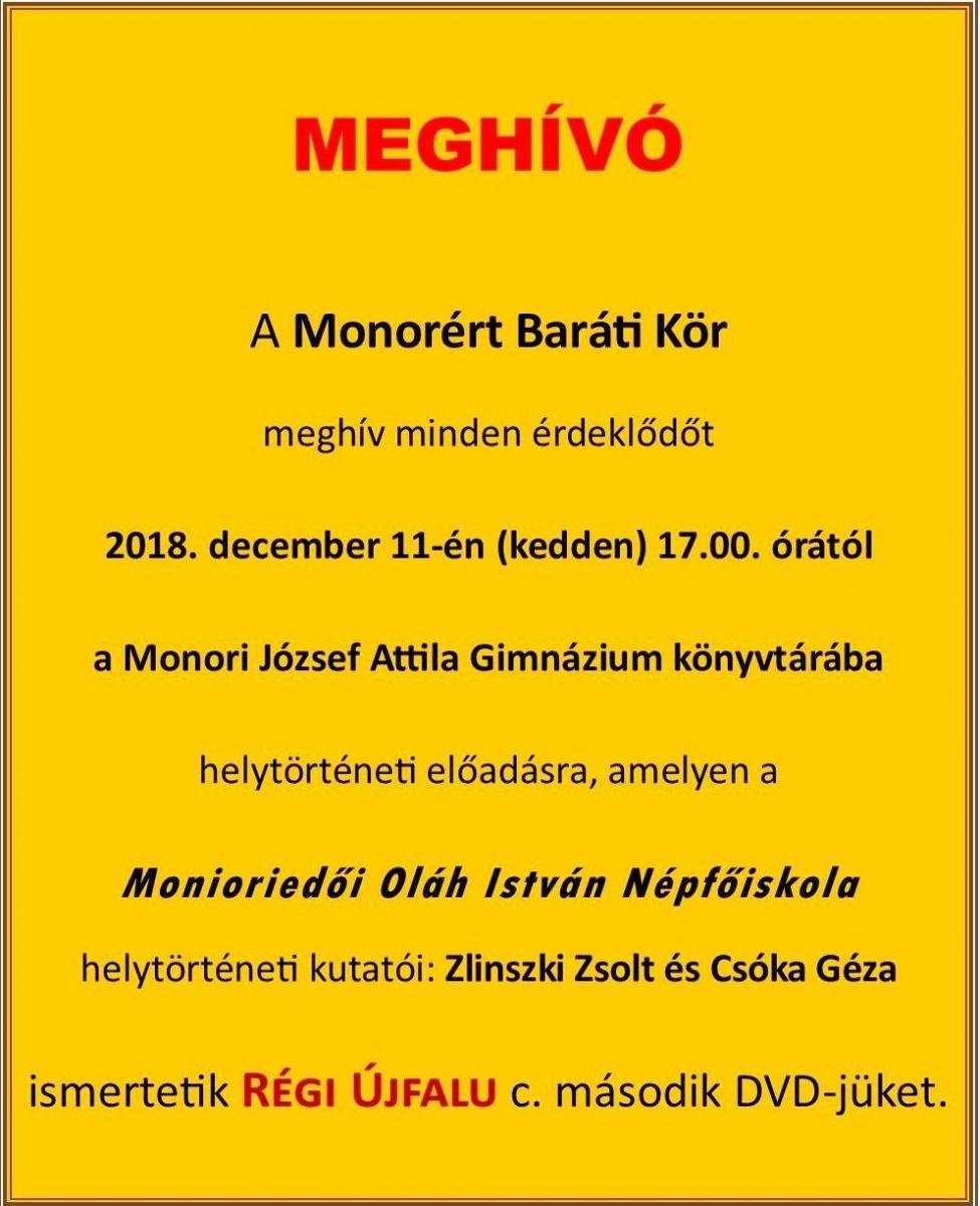 Régi Újfalu DVD bemutató