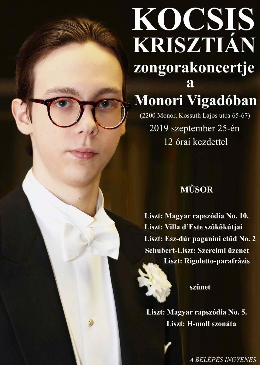 Kocsis Krisztián zongorakoncertje a monori Vigadóban