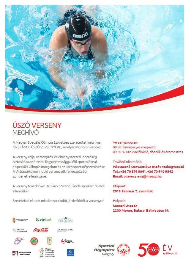 Úszóverseny a Magyar Speciális Olimpia Szövetség szervezésében