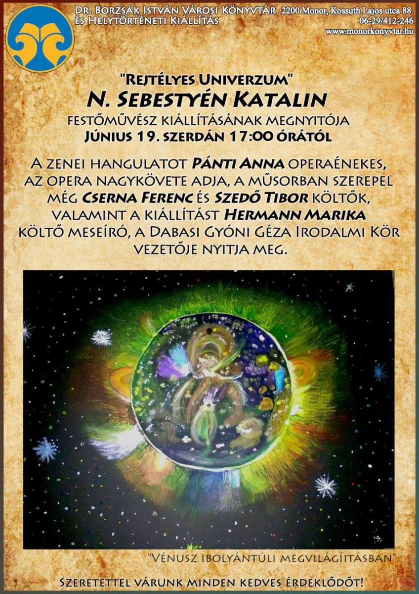 Rejtélyes Univerzum című kiállítás megnyitója