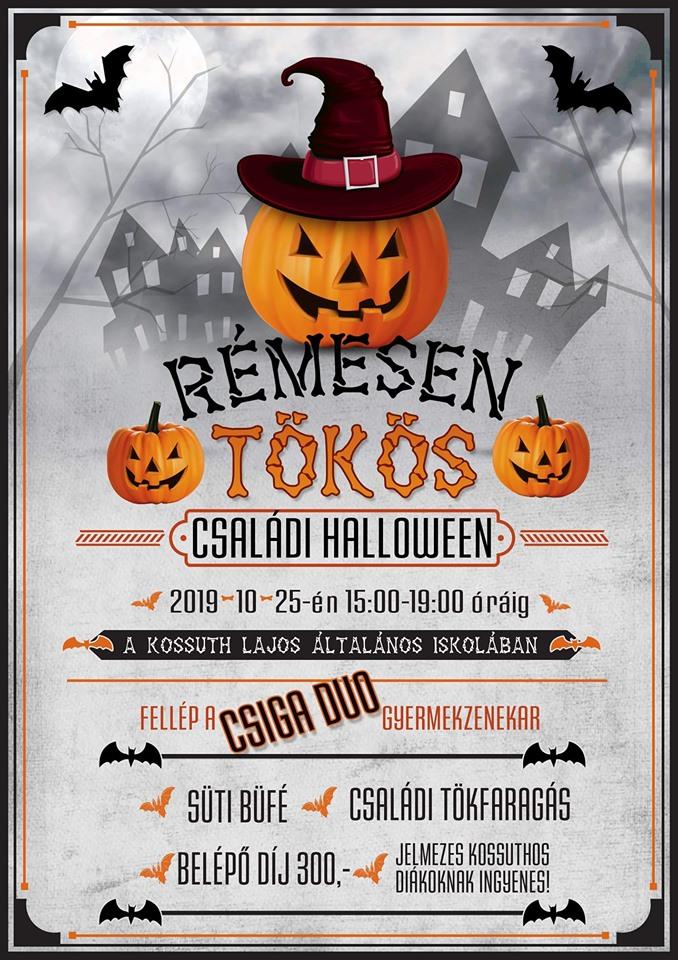 Családi halloween a Kossuth Lajos Általános Iskolában