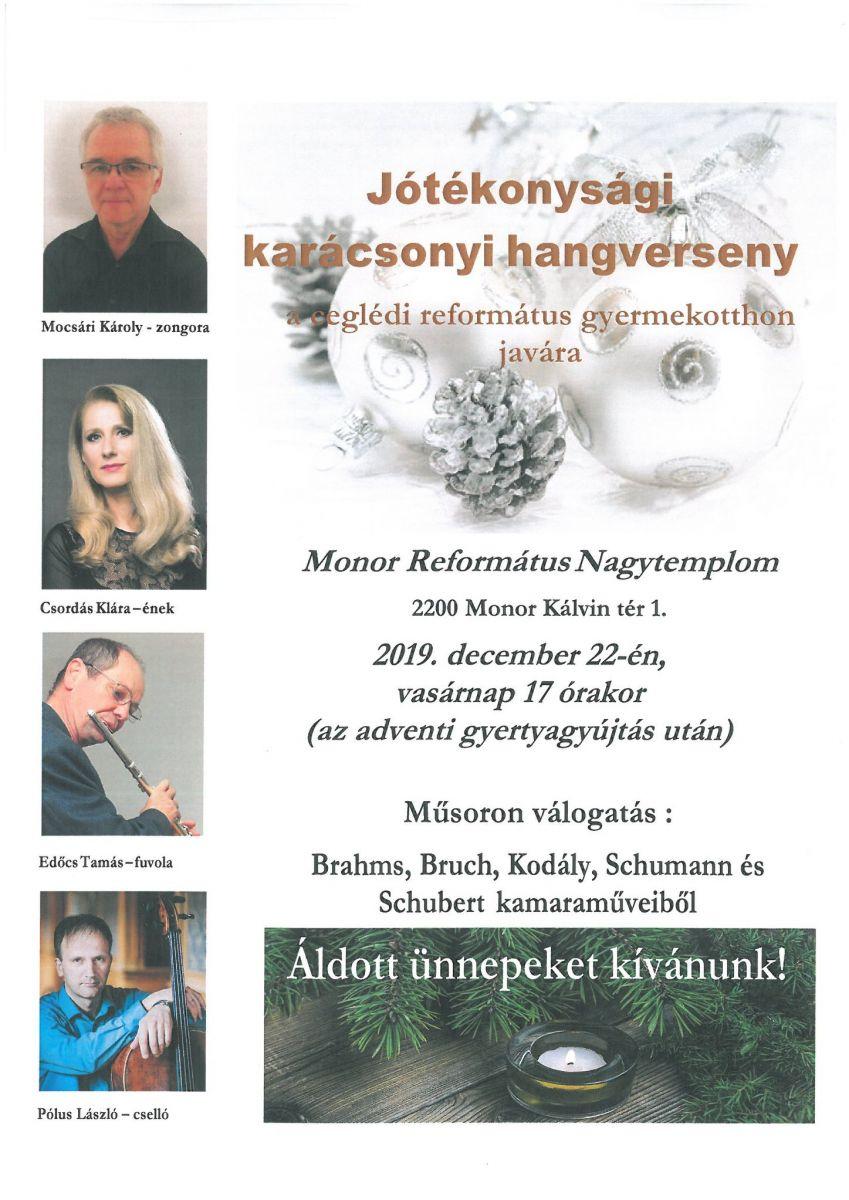 Jótékonysági karácsonyi hangverseny