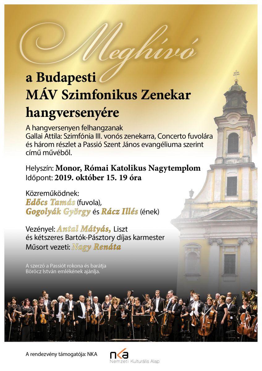 Gallai Attila szerzői estje - a MÁV Szimfonikus Zenekar hangversenye