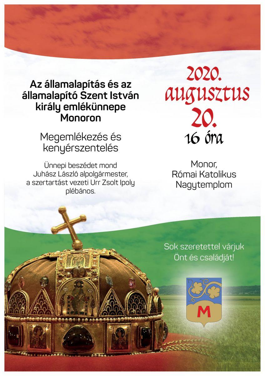 Megemlékezés és kenyérszentelés augusztus 20-án