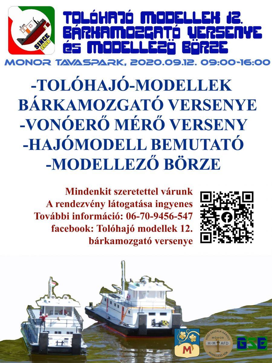 Tolóhajó modellek bárkamozgató versenye