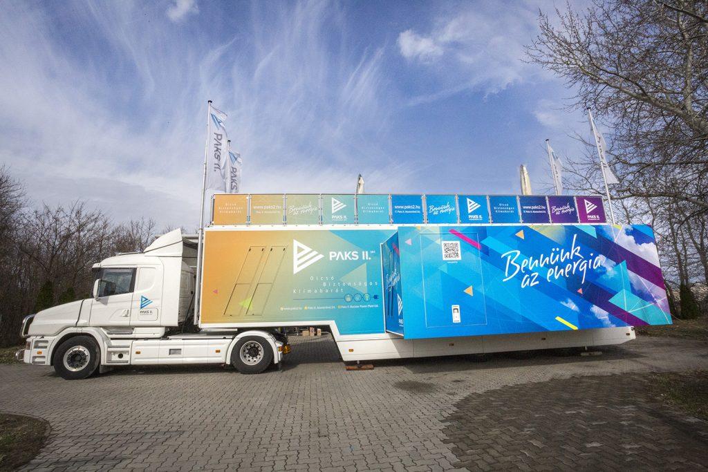Március közepén Monorra érkezik a Paks II interaktív tájékoztató kamion