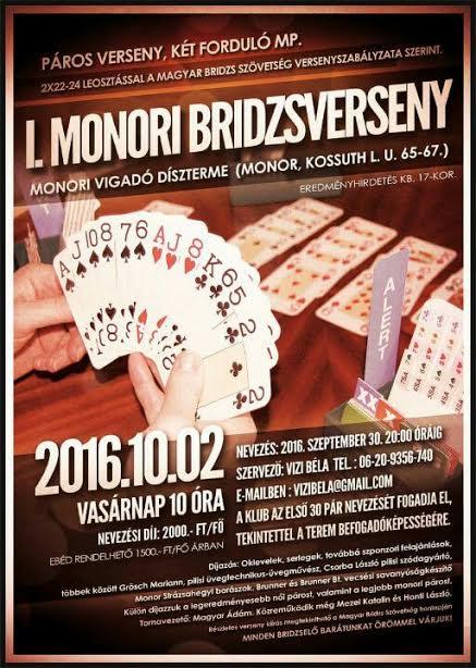I. Monori Bridzsverseny