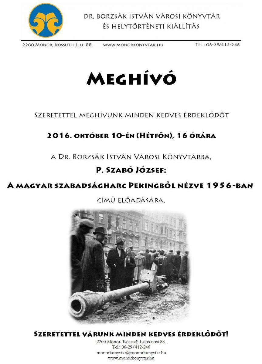 A magyar szabadságharc Pekingből nézve 1956-ban