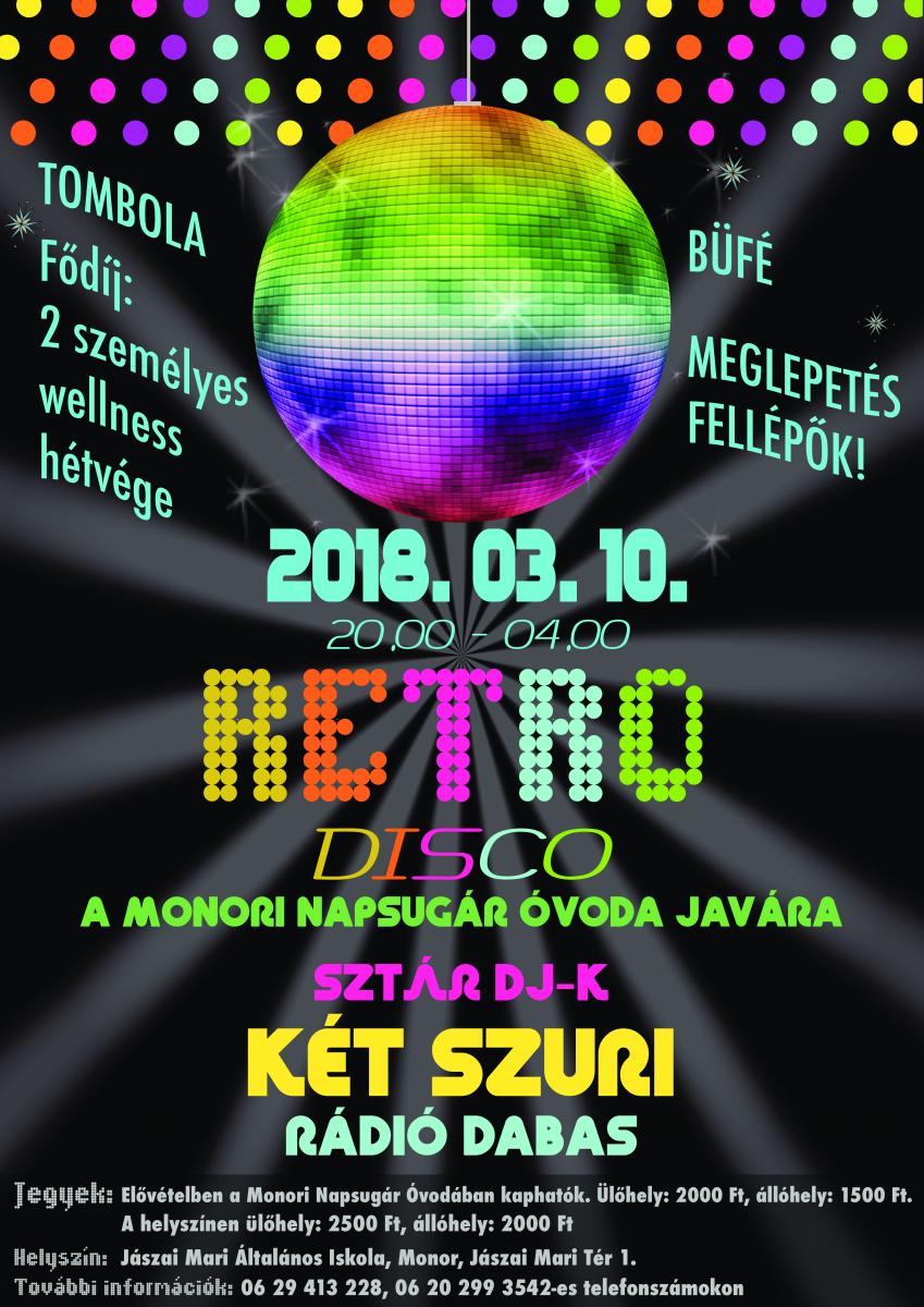 Retro Disco A Monori Napsugár Óvoda Javára