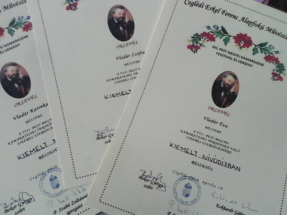 Kiemelt nívódíjban részesültek a monori zeneiskolások